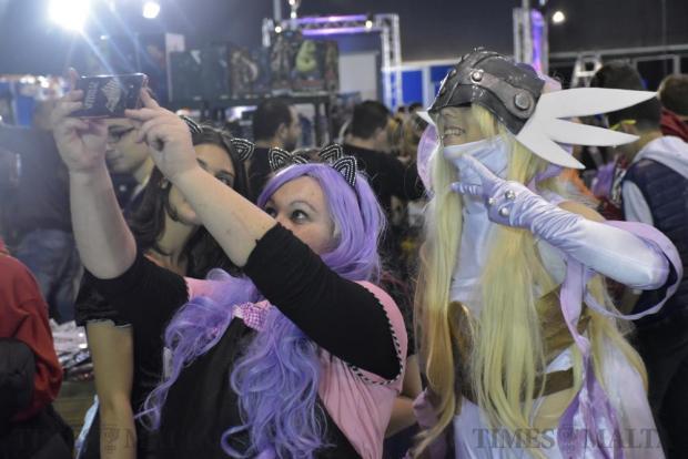 Comic fans dressed in costume take a selfie at the Malta Comic Convention held in Ta' Qali on December 3. Photo: Mark Zammit Cordina