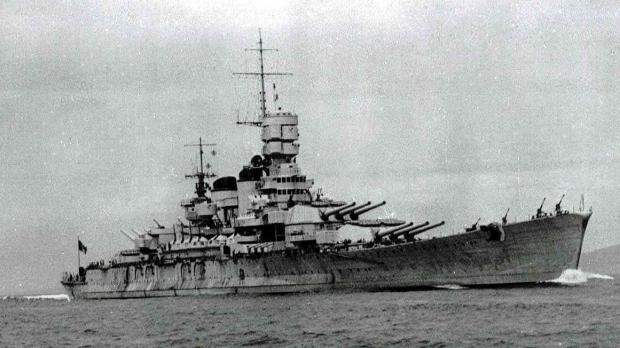The Italian flagship Roma.
