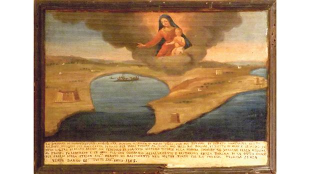 An ex-voto painting