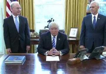 Watch: Humiliation for Trump as Obamacare repeal is binned