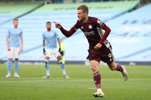 Watch: Leicester boss Rodgers hails 'sensational' Vardy after Man. City romp