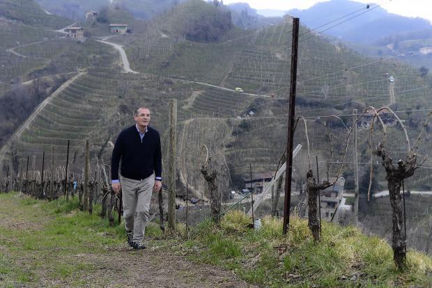 President of the Producers' Consortium for Conegliano Valdobbiadene Prosecco DOCG, Innocente Nardi.