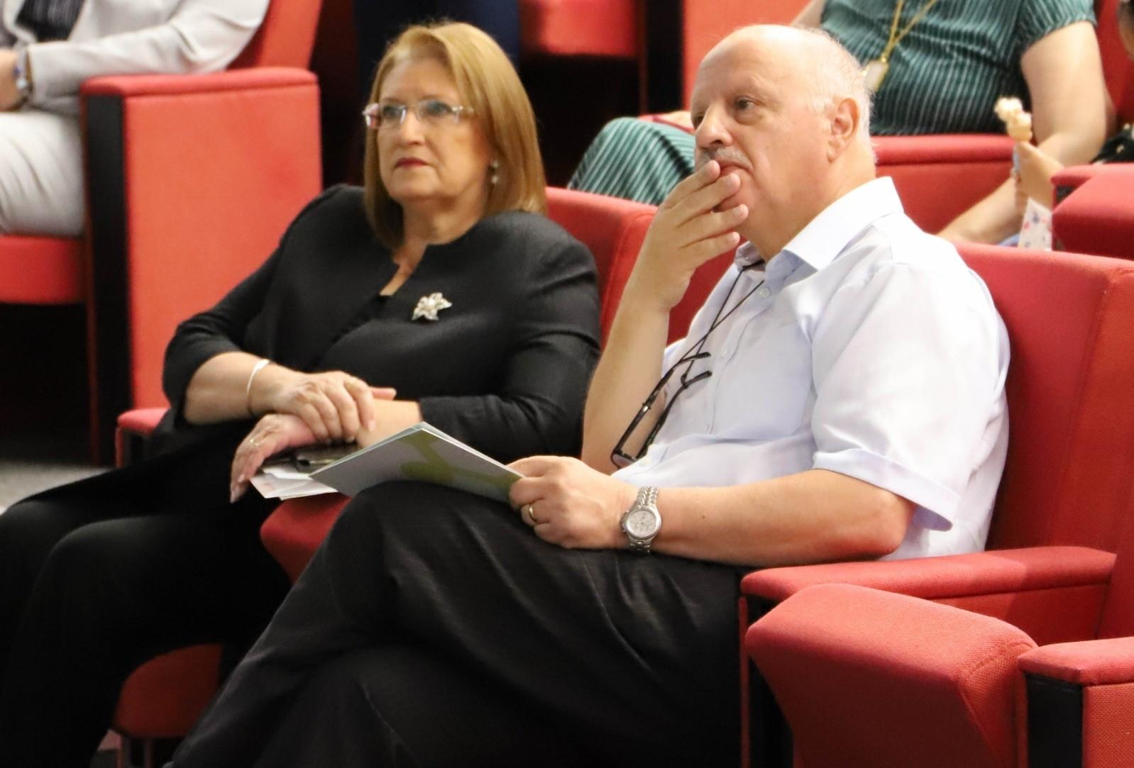 Foundation chair Marie-Louise Coleiro Preca and University rector Alfred Vella.