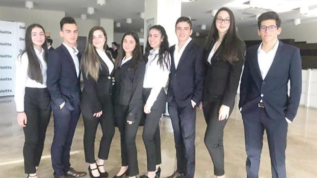 From left: Michaela Magro, Andrea Galea, Cristina Grech, Karla Naudi, Rachel Aquilina, Zack Borg, Nicole Chetcuti and Gabriel Melillo.