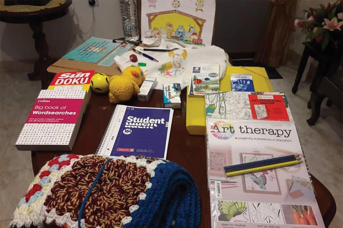 Some of the contents of the Chemo Bags of Hope given to cancer patients by the NGO.