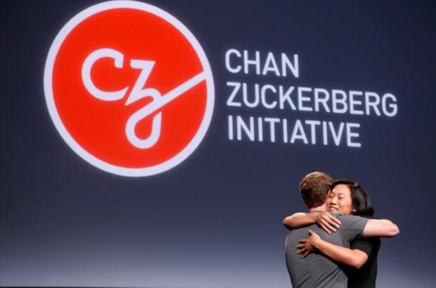 Chan and Zuckerberg announced the initiative in the Bay Area yesterday. Photo: Reuters/ Beck Diefenbach