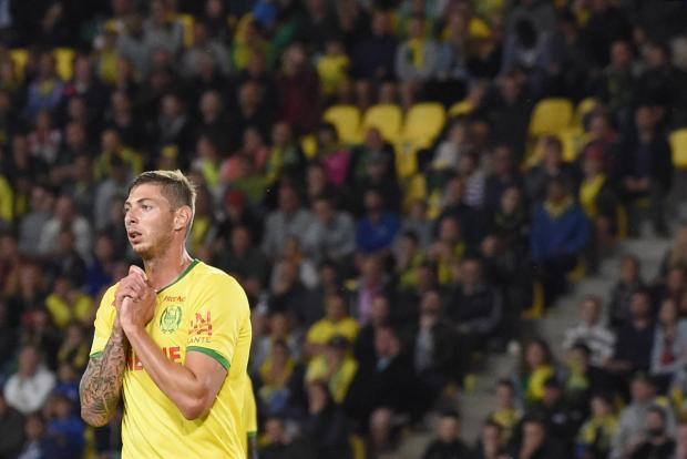 A file photo taken on September 18, 2017 in Nantes' Argentinian forward Emiliano Sala.
