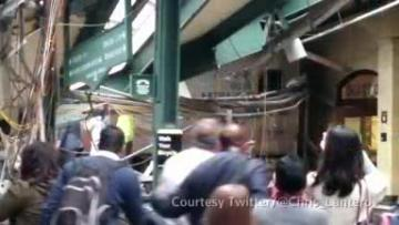 Train smashes into New Jersey station, three dead, more than 100 hurt