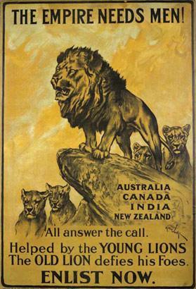 Arthur Wardle's famous recruitment poster Photo: National Army Museum, UK