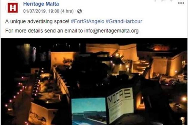 No intention to use Fort St Angelo as a billboard, Heritage Malta insists