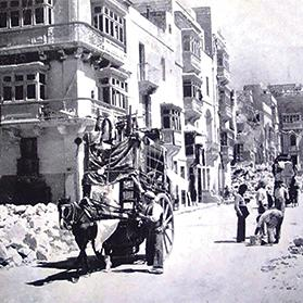 Capuchins Street after the bombing.