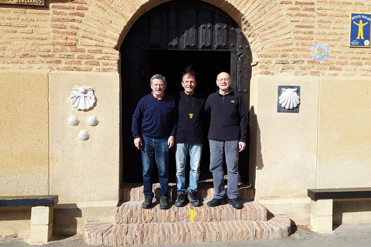 Joseph Busuttil (center) with his Hosvol comrades Luis (left) from Spain and Marc from France.