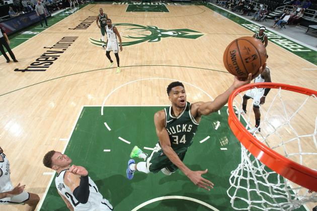 Giannis in solid form as Bucks beat Nets, James struggles before exiting