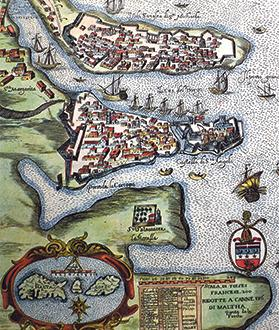 Map of Vittoriosa in 1629.