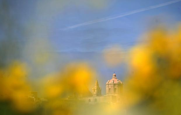 The Mdina cathedral on February 28. Photo: Chris Sant Fournier