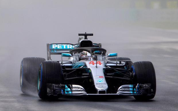 Mercedes driver Lewis Hamilton will start in front at Sunday's Hungary GP.