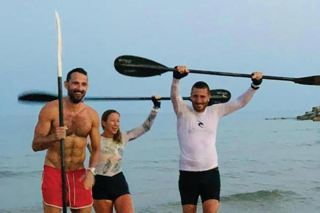 Teacher kayaks for 18 hours and 97km to drive home importance of exercise