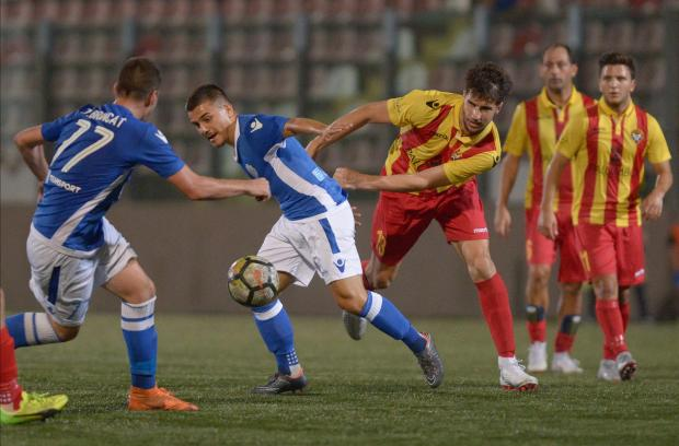 Mosta registered their first win of the season after defeating Senglea Athletic. Photo: Matthew Mirabelli