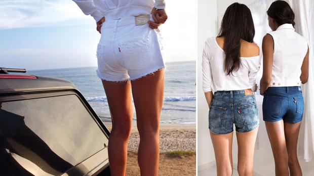 Levi's denim cut-off shorts