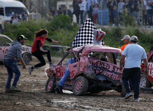 Jessica Butler Magro won the first edition of the Ladies Demoliton Derby. Photo: Darrin Zammit Lupi