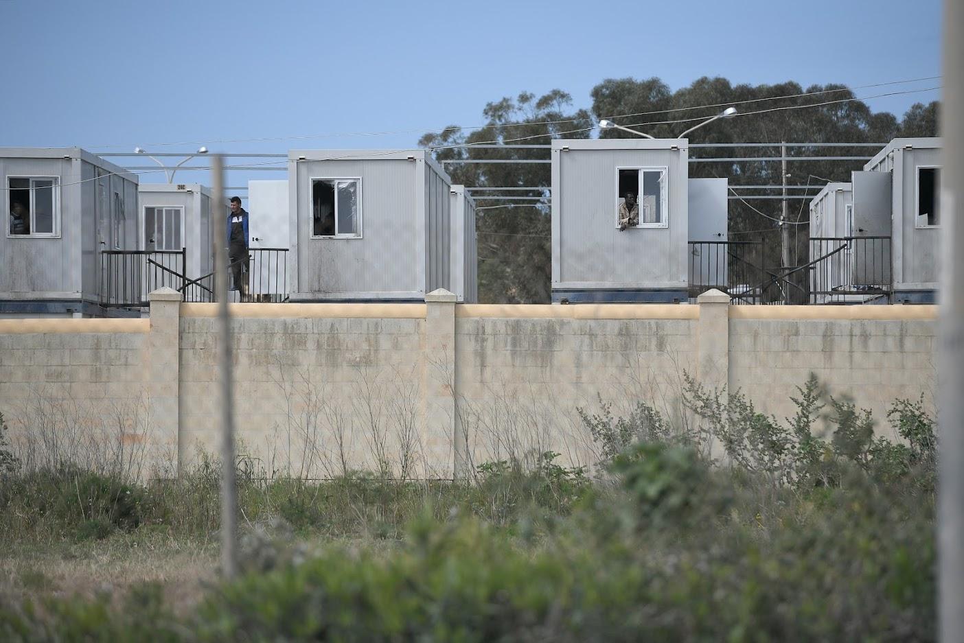 The migrants' centre at Ħal Far. Photo: Matthew Mirabelli