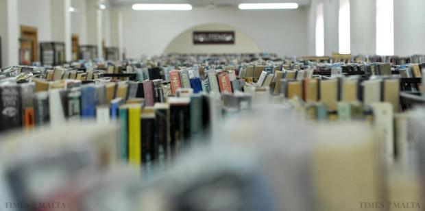 Books are seen at the Public Library in Floriana on January 19. Photo: Chris Sant Fournier
