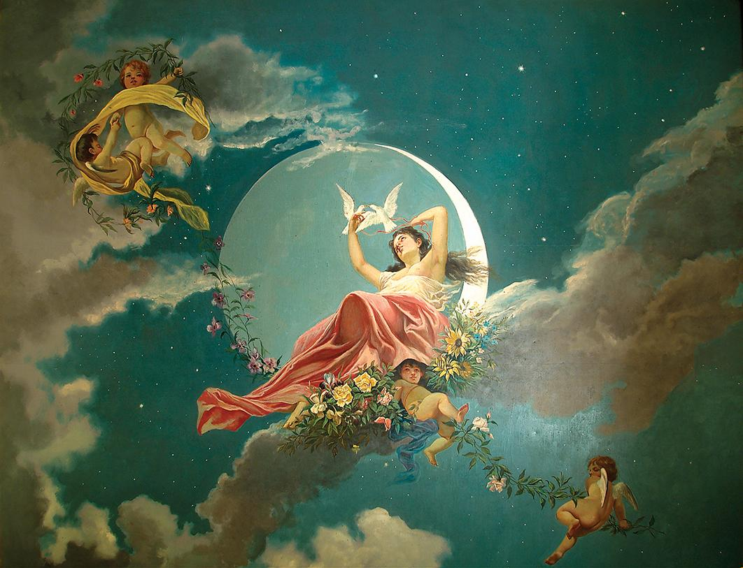 Allegorical paintings by Fortunato Venuti.