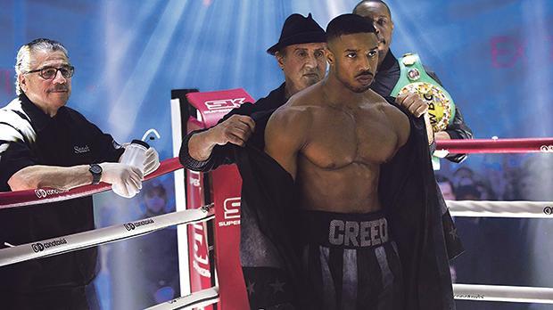 Sylvester Stallone mentors Michael P. Jordan in Creed II.