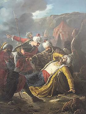 Giuseppe Calì's oil painting Death of Dragut.