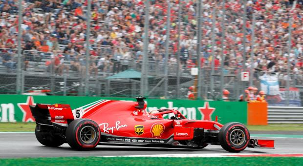 Ferrari's Sebastian Vettel during practice.