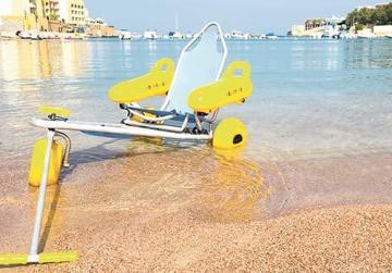 A sand wheelchair
