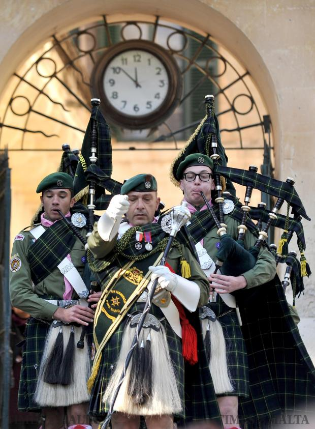 The scouts band at the peace flame ceremony at the San Anton Palace in Attard on January 2. Photo: Chris Sant Fournier
