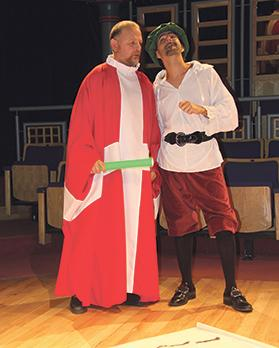 Joe Pace as Grand Master La Valette and Carlos Farrugia as Francesco Laparelli in Xagħret Mewwija.