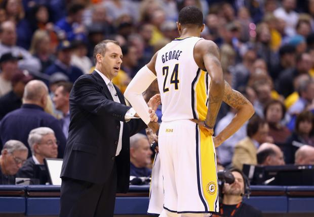 Frank Vogel (left), named new Los Angeles Lakers coach