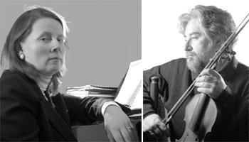 Pianist Danuta Mroczek-Szlezer (left) and violinist Mieczyslaw Szlezer