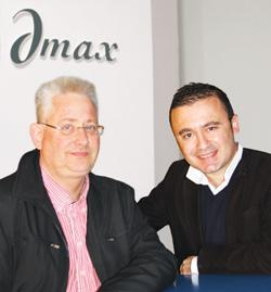 Uwe Schönfeld, left, and Ray de Bono, the brains behind Dmax, the Maltese company that matches IT and creativity.