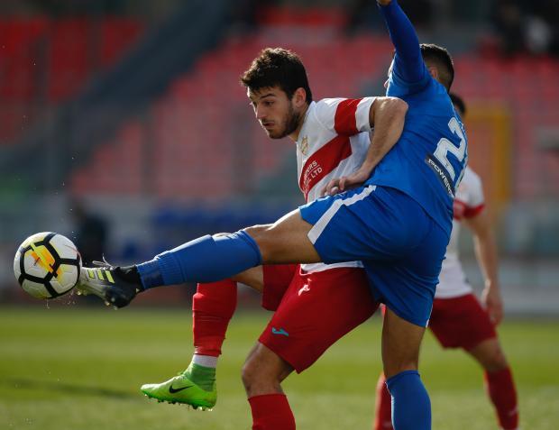 Andrija Majdevac (left) was on the mark as Balzan beat Pieta Hotspurs. Photo; Darrin Zammit Lupi