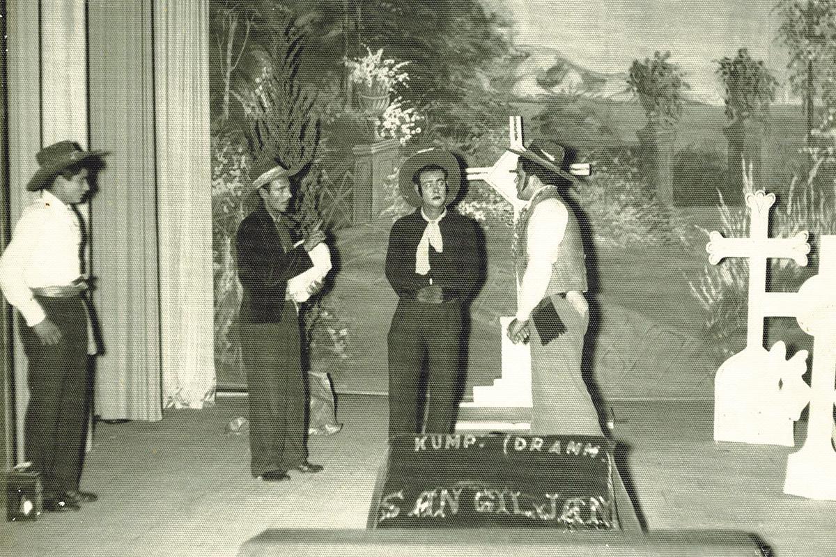 Old photographs of productions held at the theatre in times gone by. Photos: Kumpanija Drammatika San Ġiljan