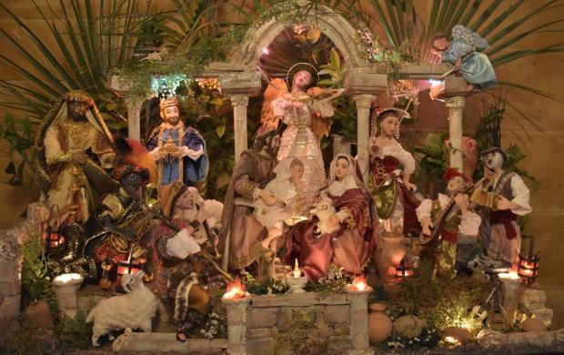 A handmade crib is seen in Cospicua on December 19. Photo: Mark Zammit Cordina