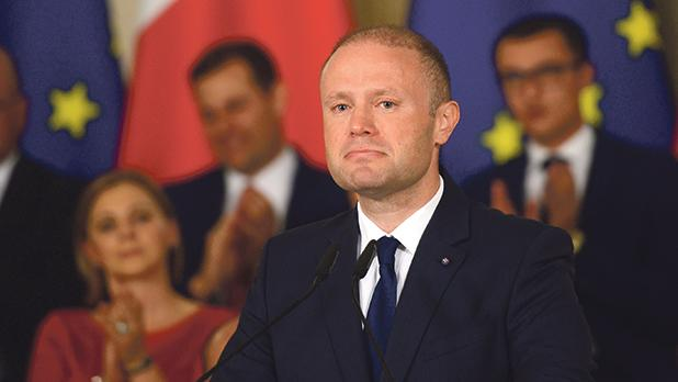 """Prime Minister Joseph Muscat shed tears during the Egrant inquiry press conference: """"The slumped head, the hand to eyes, the pause... there was theatrics in that, at least in part."""" Photo:Jonathan Borg"""