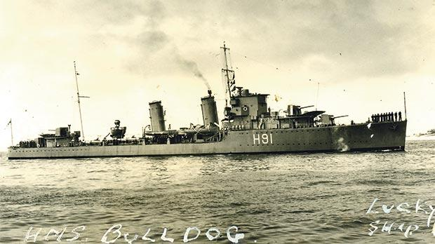 HMS Bulldog, with Buhagiar on board, was involved in the capture of the German Enigma machine from U-110 in the North Atlantic.