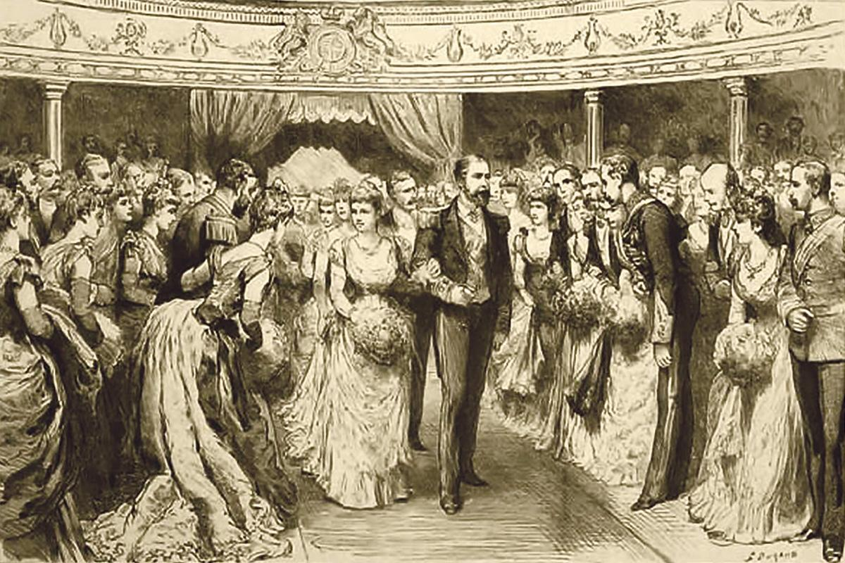 A Grand Naval Ball given by the Duke of Edinburgh at the Royal Opera House in 1889.