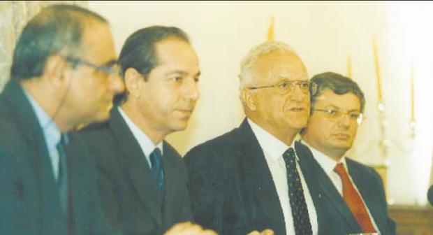 File photo: Eddie Fenech Adami at Castille on August, 2002