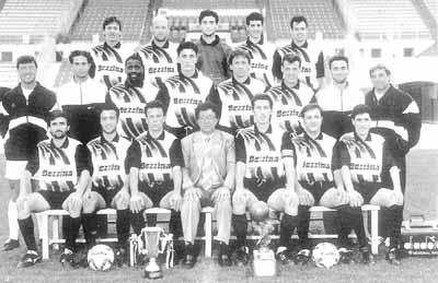 Hibs were crowned champions after beating Valletta 4-3 on April 23, 1994 in a dramatic finale.