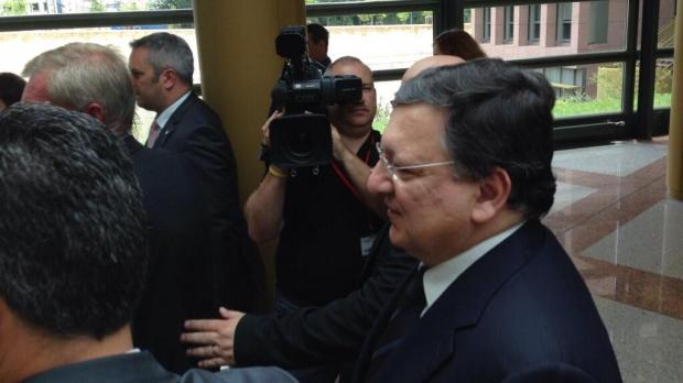 Mr Barroso arrives in court this afternoon. Picture - François Beaudonnet
