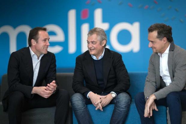 Melita CEO Harald Roesch (left) together with Melita Italia Srl. Executive Chairman Riccardo Ruggiero and COO Guglielmo Guerra (right).