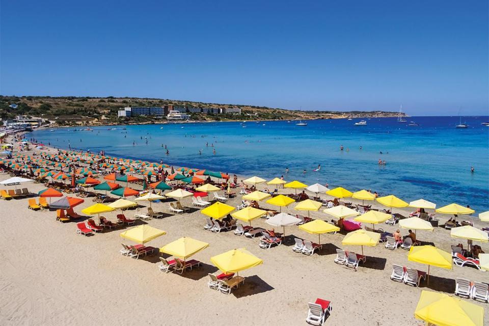 Mellieħa Bay beach needs facilities for the public area.