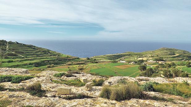 Stunning scenery around Baħrija.