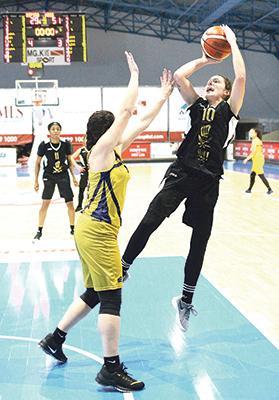 Sophie Abela hits a shot against Depiro. Photo: Wally Galea