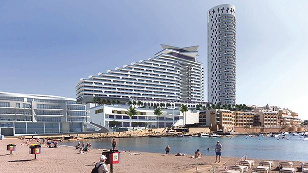 An artist's impression of the City Centre project in St George's Bay.